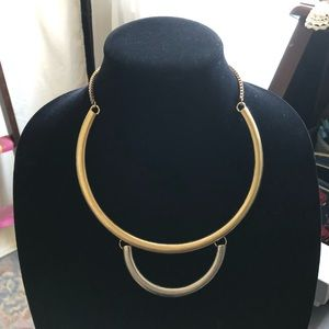 Jewelry - Faded Gold & Silver Ring Necklace